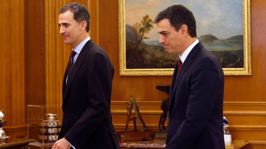 O Rei recebe a Pedro Sánchez hoje no Palácio da Zarzuela.