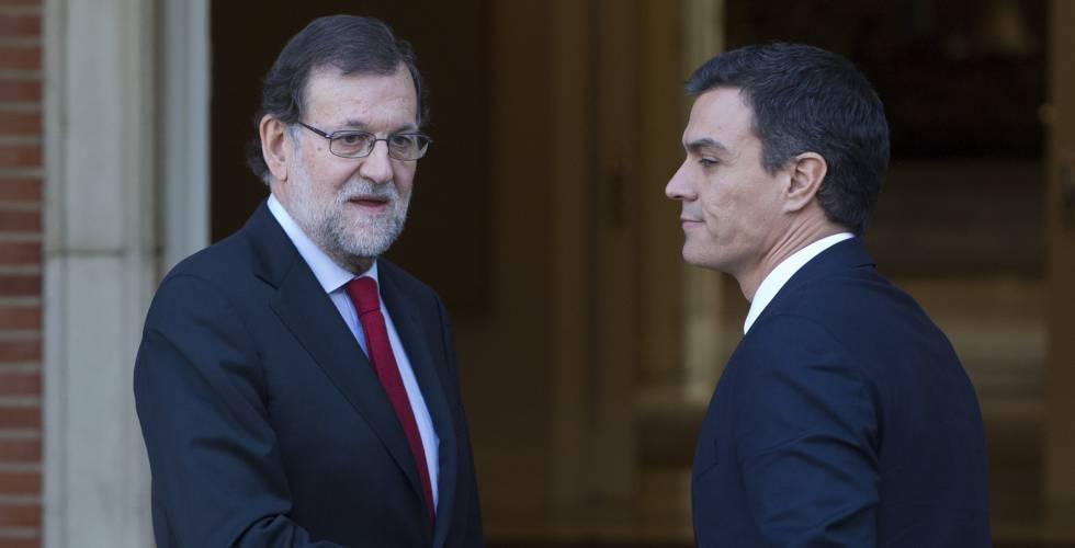 Rajoy y Sánchez el pasado 23 de diciembre.