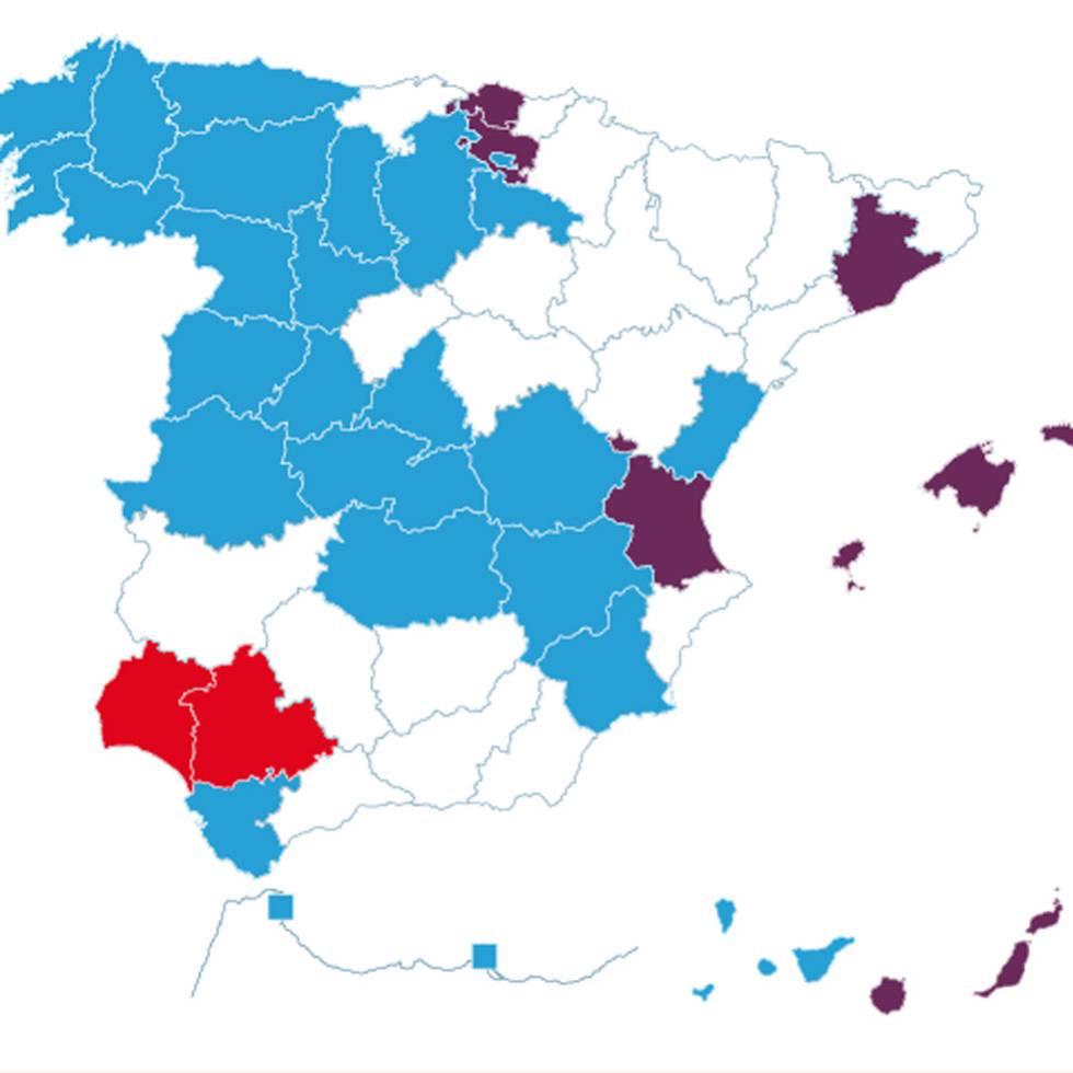 El bipartidismo solo sobrevive en cinco provincias