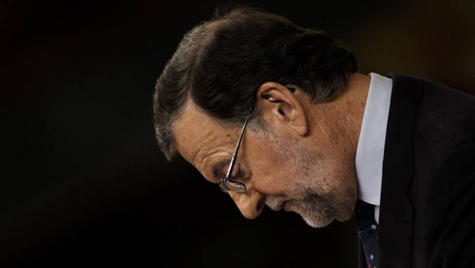 O líder do PP, Mariano Rajoy, nesta sexta-feira no Congresso.