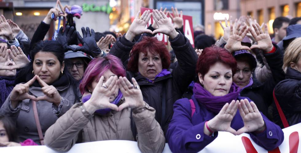 A protest against gender violence in Madrid.