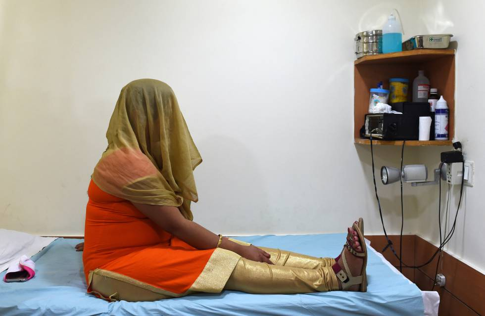 A woman at a surrogacy center in New Delhi.