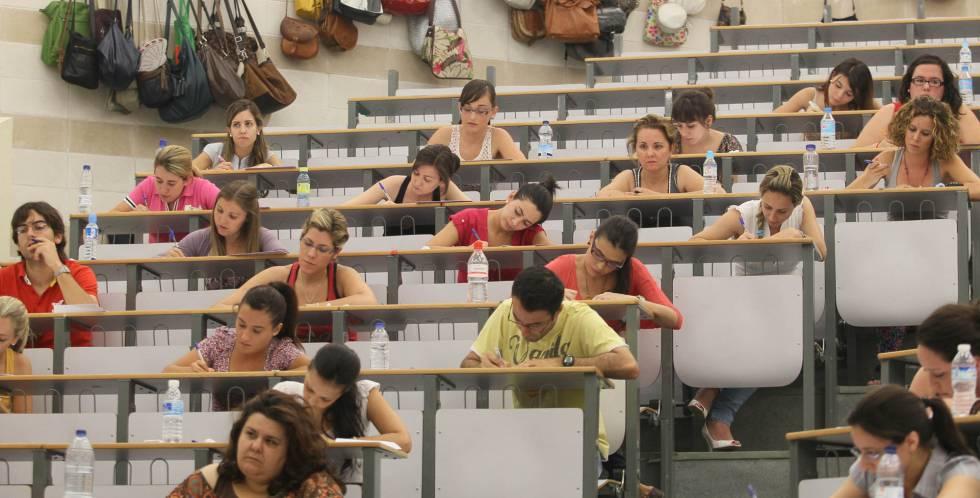Campus universitario de Rabanales. Oposiciones a magisterio convocadas por la junta de Andalucía.