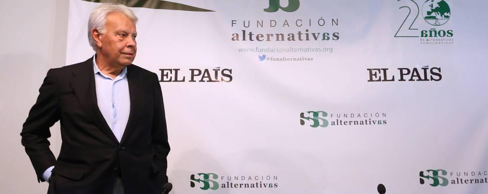 El expresidente del Gobierno Felipe González el pasado mayo en el Círculo de Bellas Artes, en Madrid.