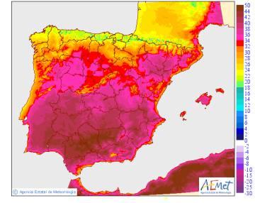 Seis provincias, en alerta roja por máximas de hasta 46,9 grados