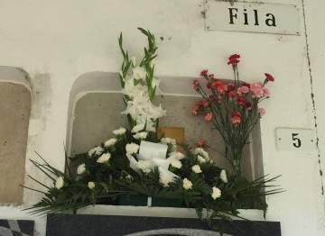 El nicho donde fue enterrada Naiara.