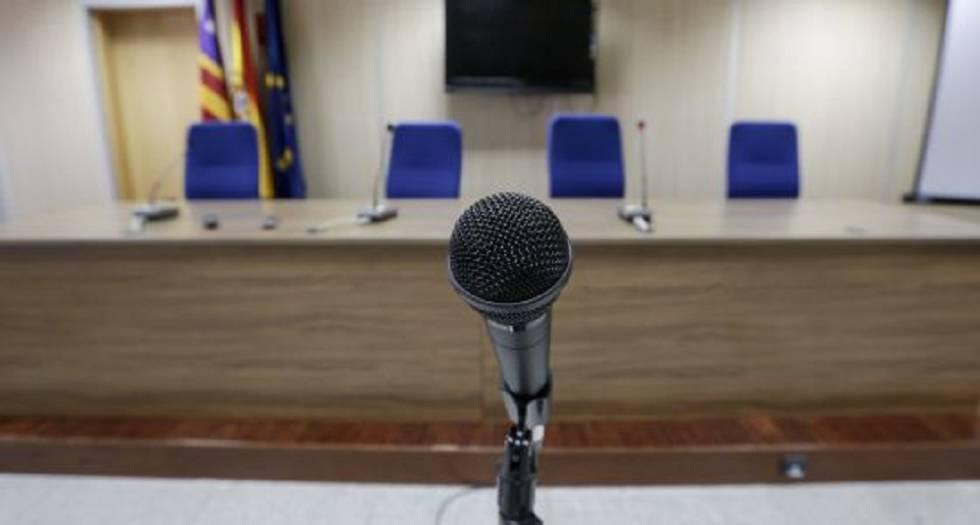 Sala en la que se celebra el juicio por el caso Nóos