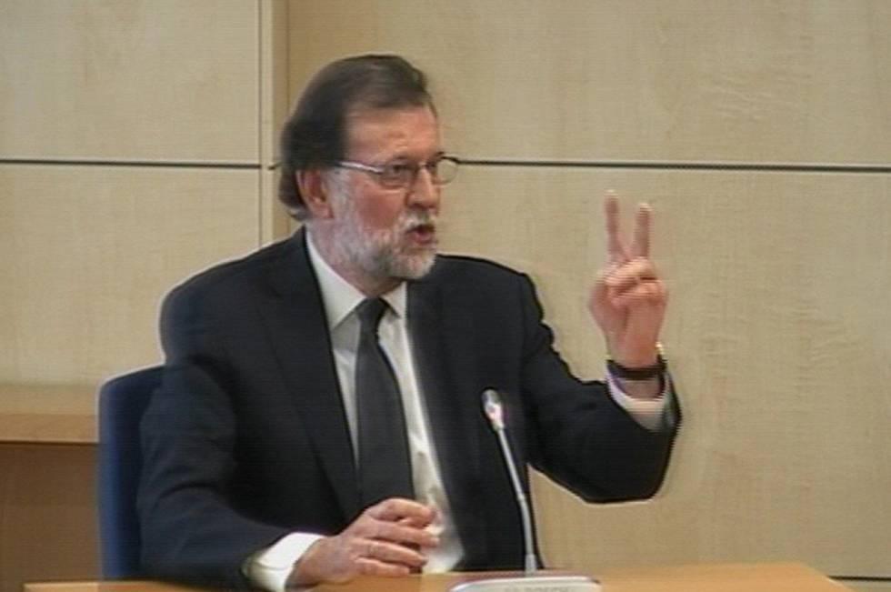 Mariano Rajoy, durante un momento de su declaración.