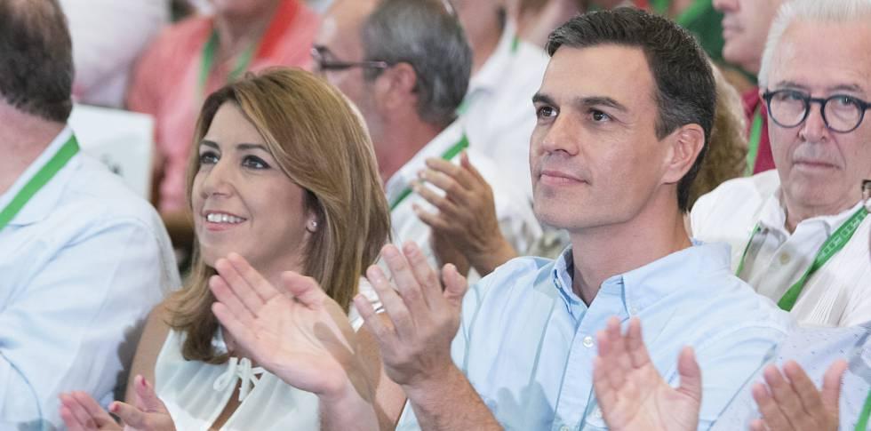 Pedro Sánchez y Susana Díaz, hace dos semanas en Sevilla.