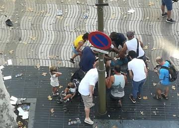 As primeiras imagens do atentado