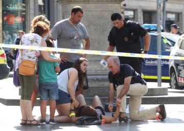 El ataque en la Rambla de Barcelona, en imágenes