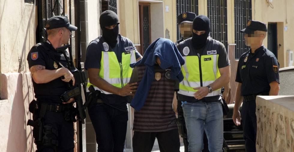 Spanish police make an arrest in Melilla.