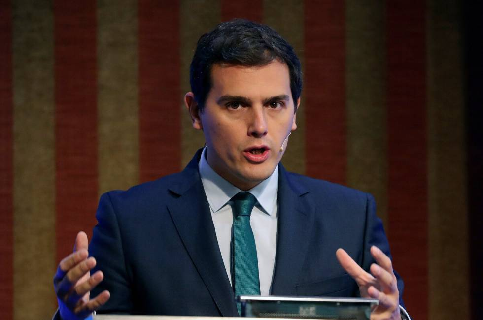 El presidente de Ciudadanos, Albert Rivera, durante su intervención en el Foro Next International Business School.