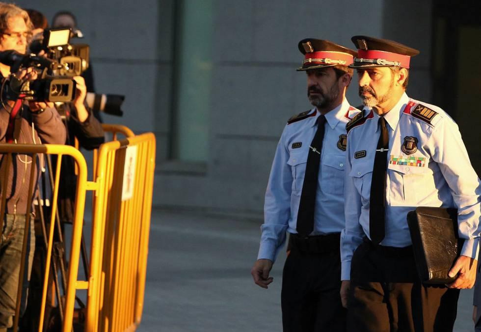 El mayor de los Mossos d'Esquadra, Josep Lluís Trapero a su llegada para declarar en la Audiencia Nacional.