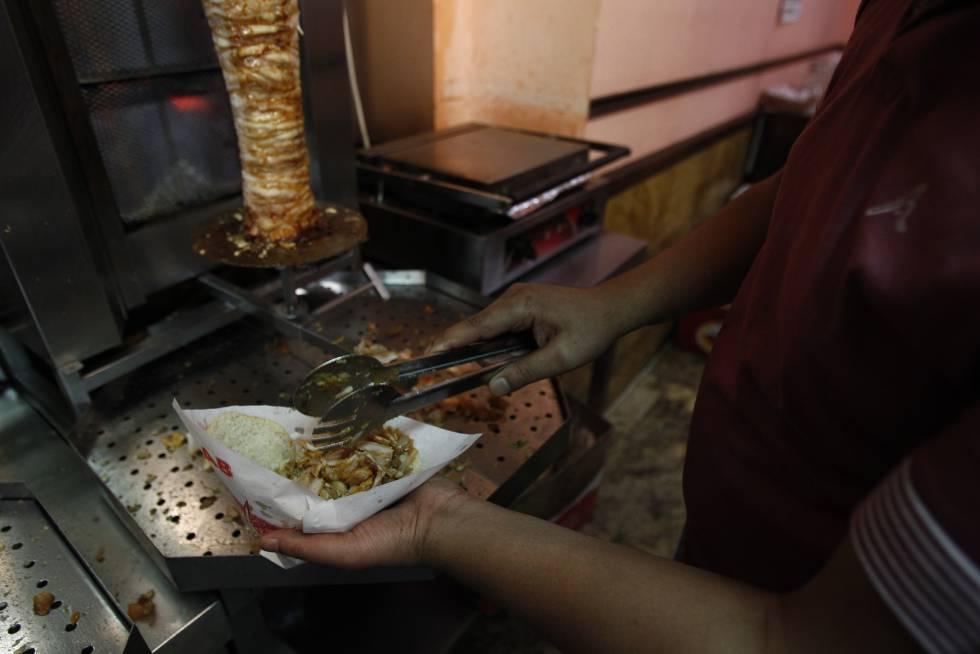 Establecimiento de kebab en el centro de Madrid.