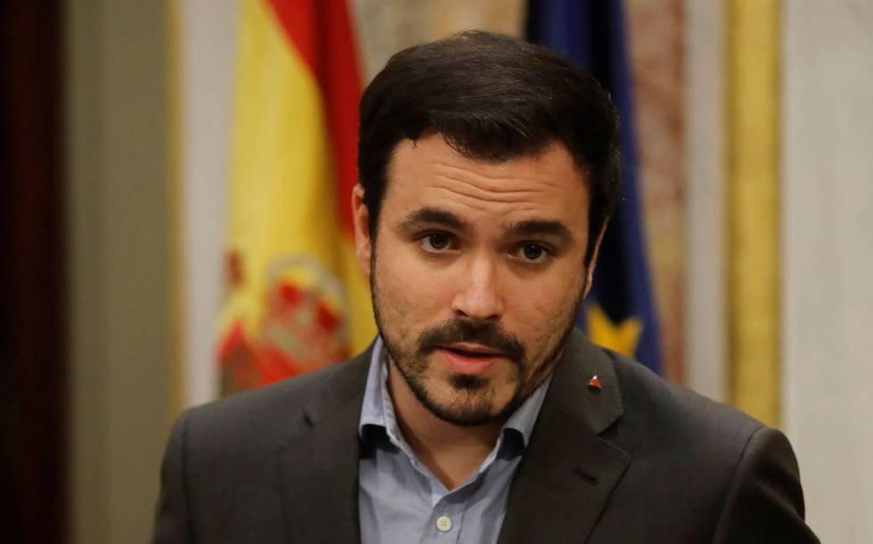 Alberto Garzón, en el Congreso.