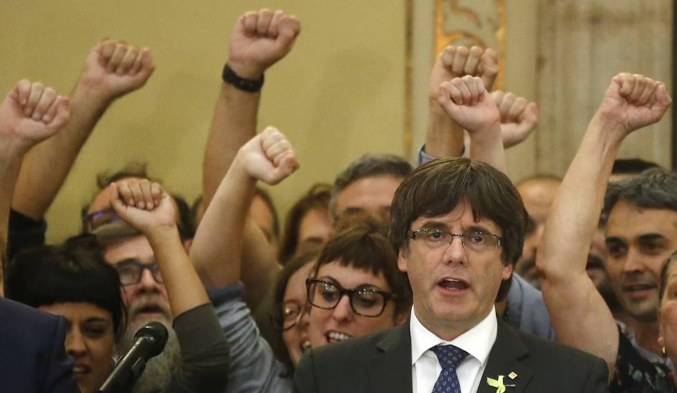 Carles Puigdemont, en una imagen del pasado viernes en el Parlament.