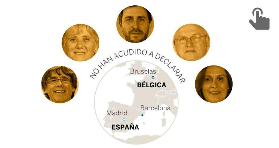 El Govern de Puigdemont, entre la cárcel y Bruselas 1509638581_049331_1509648532_sumario_normal