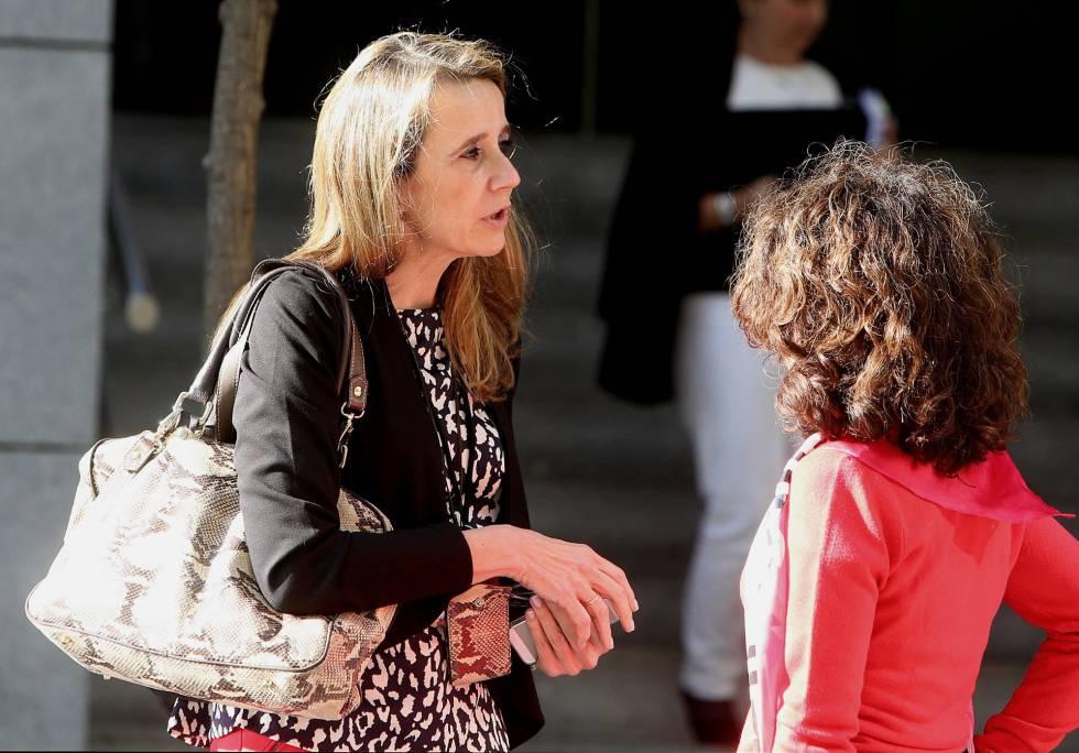 La juez Carmen Lamela este viernes en la Audiencia Nacional.