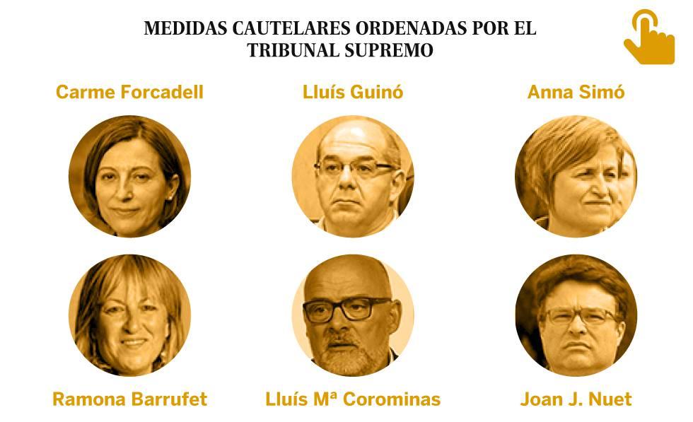Supremo fija fianza a presidenta del parlamento catalán para eludir cárcel