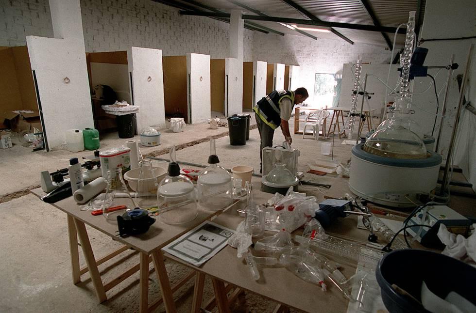 Un laboratorio de cocaína desmantelado en una imagen de archivo.
