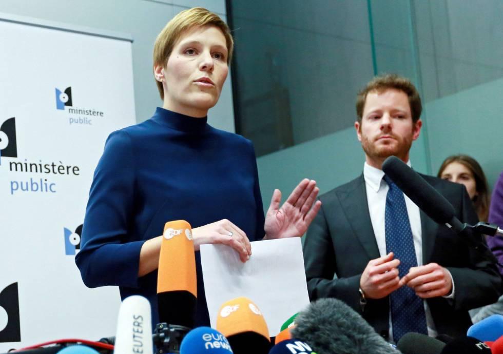 La portavoz de la Fiscalía de Bruselas, Ine Van Wymeersch el 17 de noviembre.