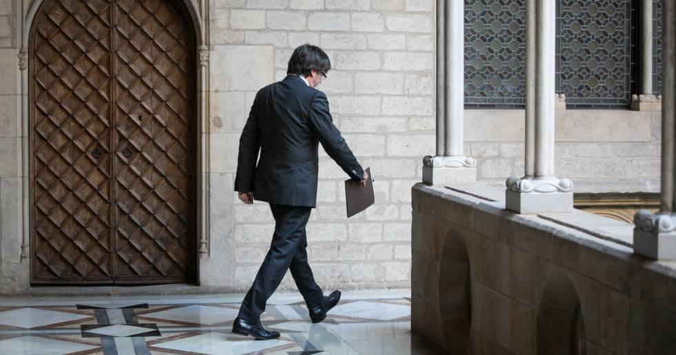 Carles Puigdemont, el pasado día 26 de octubre.