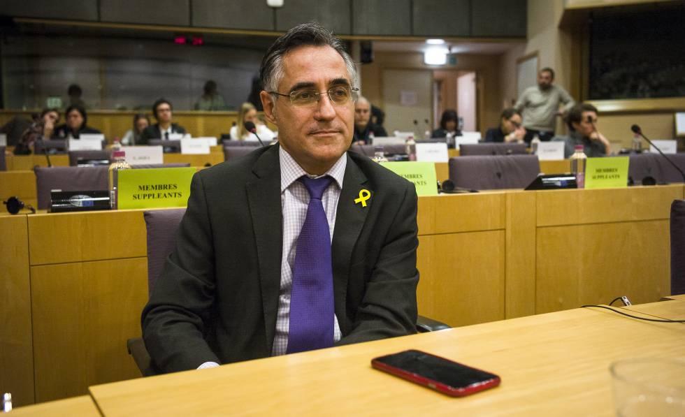 El eurodiputado Ramon Tremosa en el Parlamento Europeo, este lunes.