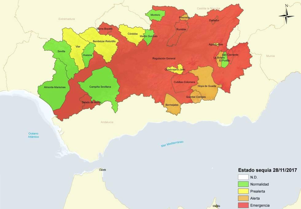 Marismas Del Guadalquivir Mapa.El Gobierno Excluye A Andalucia Del Decreto De Sequia