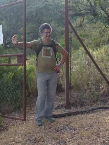 Juan Clavero, horas antes de su detención en agosto.