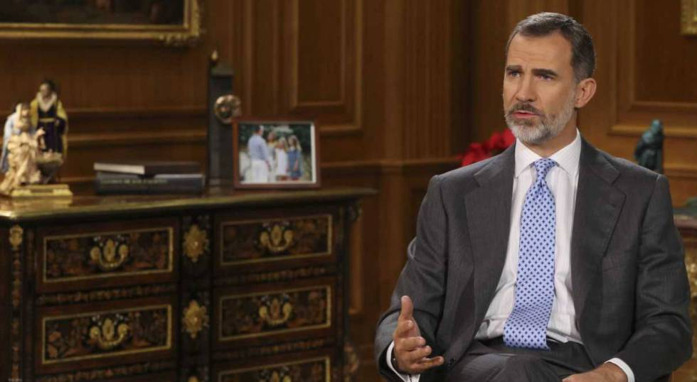 King Felipe VI during his Christmas message.