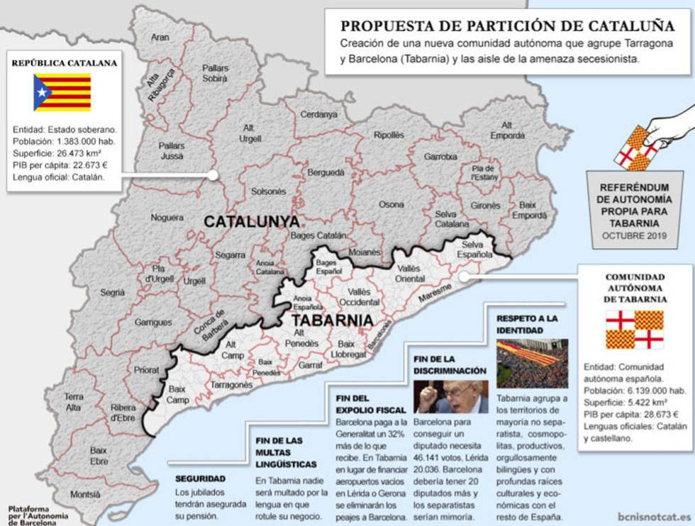 Catalan Map Of Spain.Catalan Crisis Tabarnia The Hoax Independence Movement