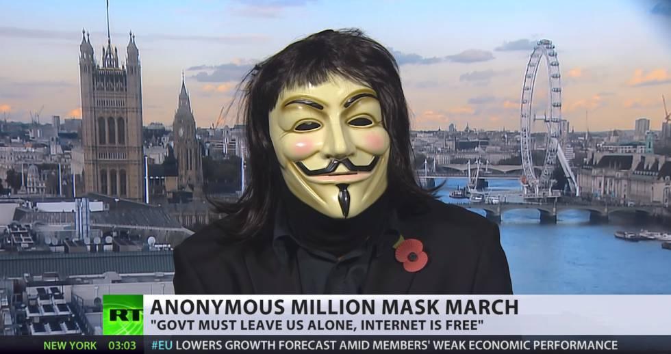 Entrevista a un líder de Anonymous en RT.