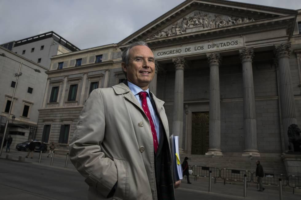 Víctor Torre de Silva, este viernes ante el Congreso de los Diputados.