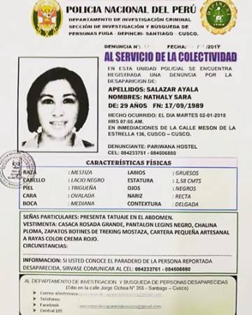 """La hermana de la turista española desaparecida en Perú: """"Hace ya seis días y nadie tiene ni una pista"""""""