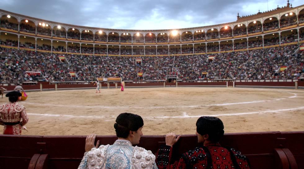 Vista de la plaza de Las Ventas durante una corrida.