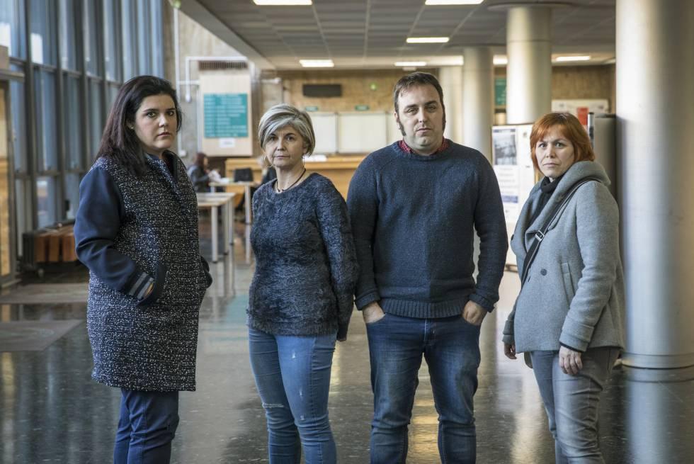 De izq.a dcha., los profesores asociados valencianos Anna Diaz [ha dejado recientemente de serlo] Yolanda Lifante, Pablo Lluch y Alicia Martí.