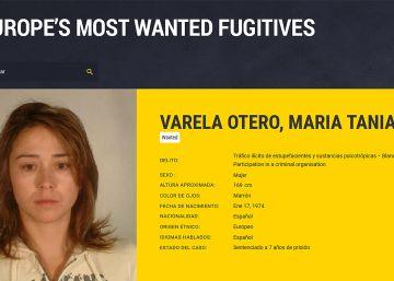 Ficha policial de Tania Varela