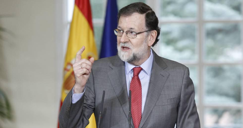 Mariano Rajoy, durante una intervención en el palacio de La Moncloa.