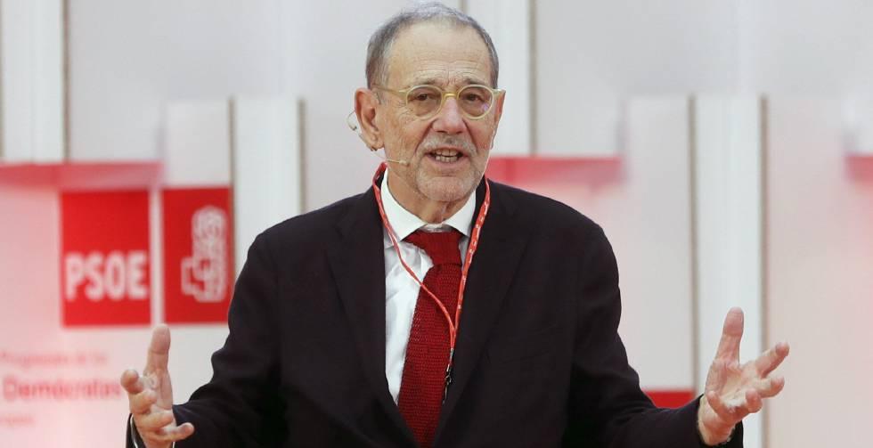 El exsecretario general de la OTAN Javier Solana, durante su intervención en la masterclass de la Escuela de Buen Gobierno Jaime Vera.