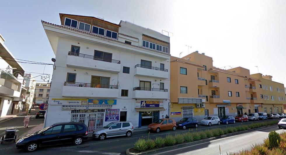 Una calle en Guaza, Arona (Tenerife).