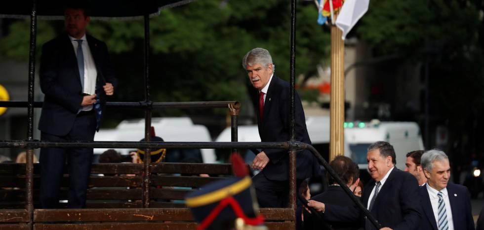 El ministro de Asuntos Exteriores de España, Alfonso Dastis, durante su visita oficial a Buenos Aires la pasada semana.