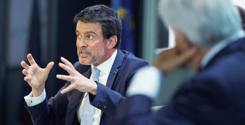 Manuel Valls, durante el coloquio sobre el futuro de Europa.