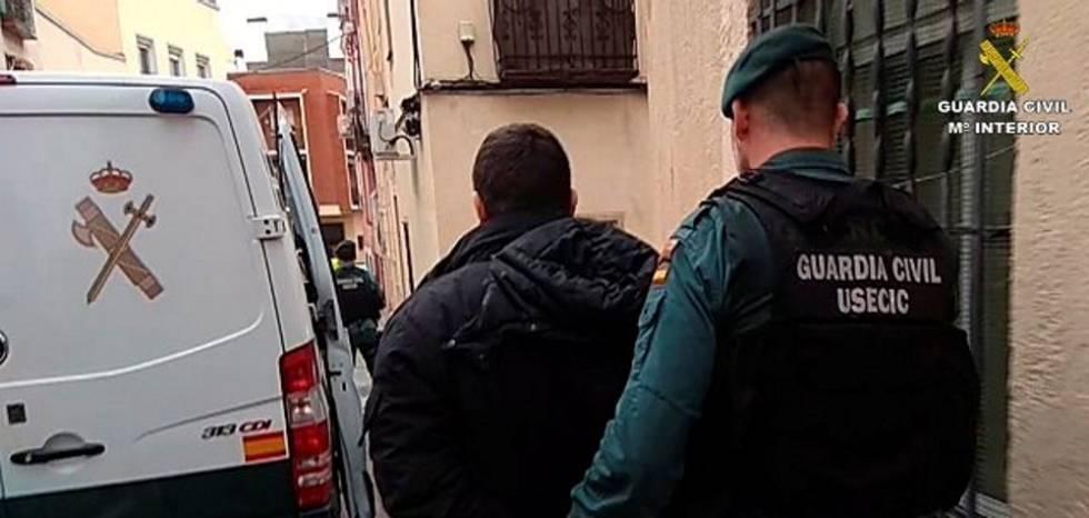 Imagen de uno de los arrestados por la Guardia Civil en la Operación Petunia.