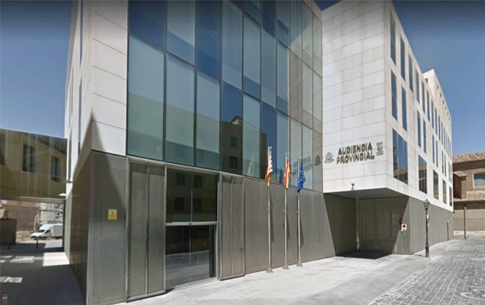 Audiencia provincial de Zaragoza.
