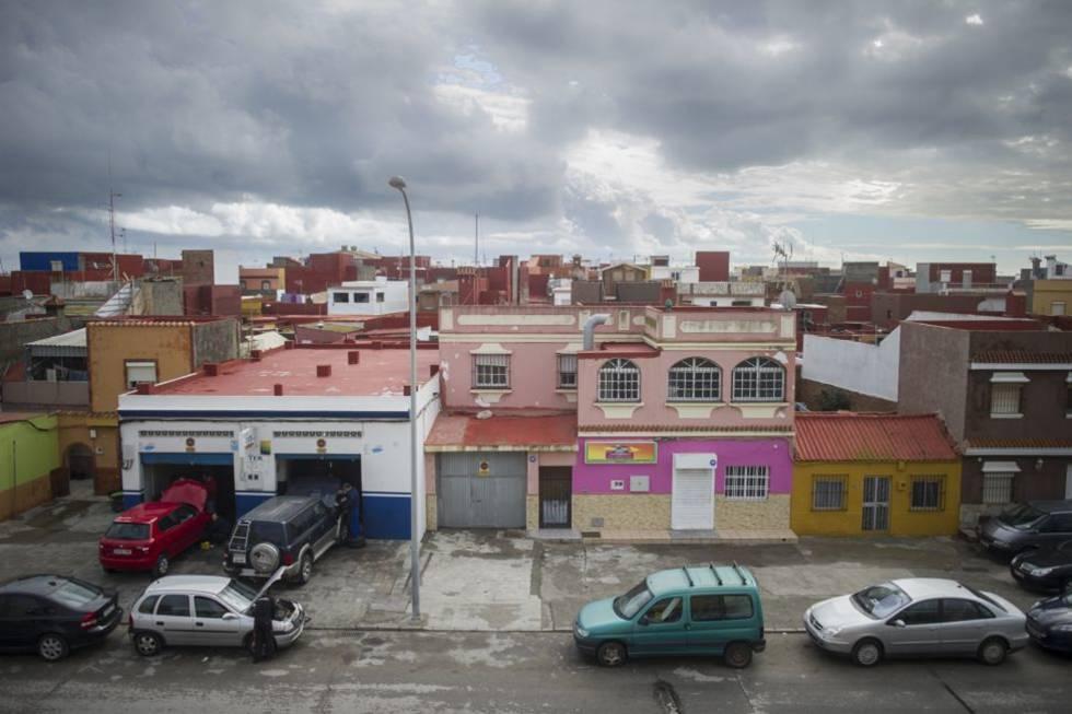 Imagen del barrio de La Atunara, en La Línea de la Concepción.