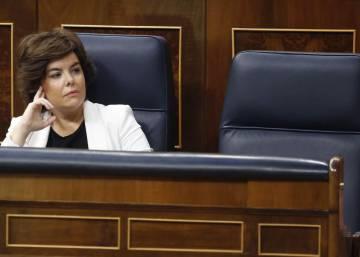 La votación de la moción de censura del PSOE contra Mariano Rajoy, en imágenes