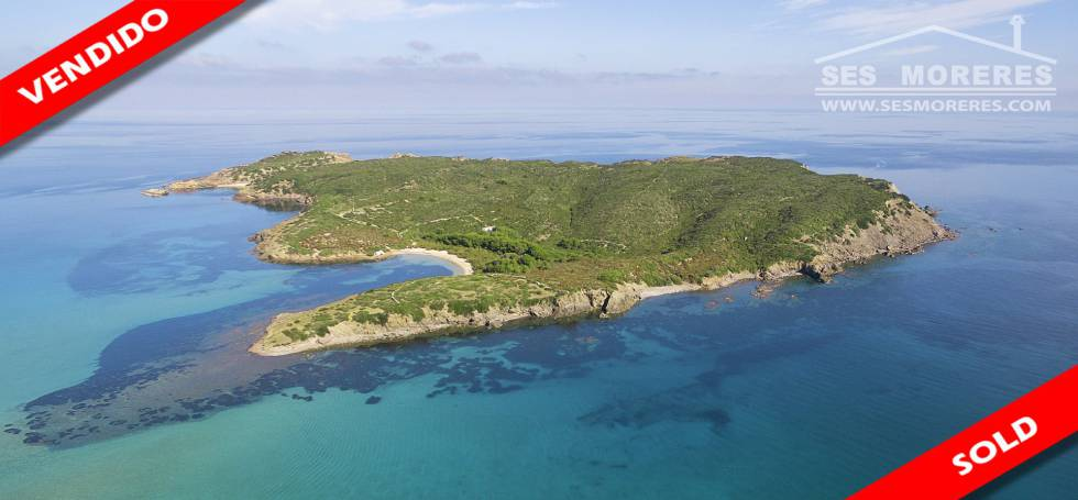 The islet of Illa d'en Colom, sold to the Cuban-American businessman Alex Meruelo.