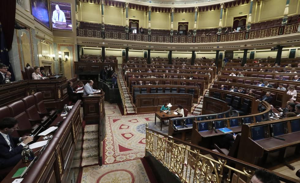 Pleno del Congreso de los Diputados sin el Gobierno con notables asuencias en el PP.