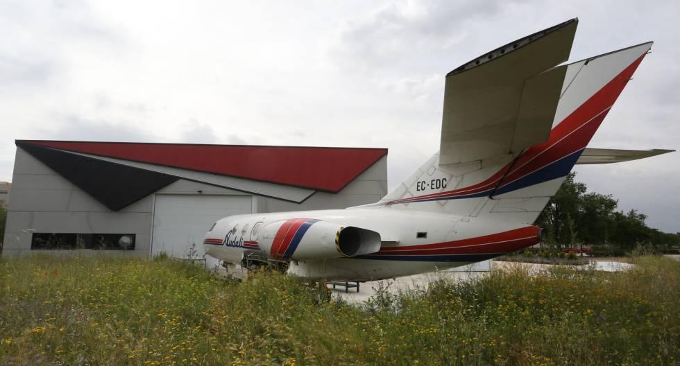 El hangar en el campus de Fuenlabrada de la Universidad Rey Juan Carlos.
